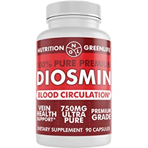 100% Pure DIOSMIN Pure Ingredient no Mixes or Additives for Blood Circulation, Leg Veins