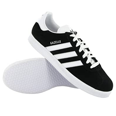 Adidas Gazelle Black White Mens Trainers