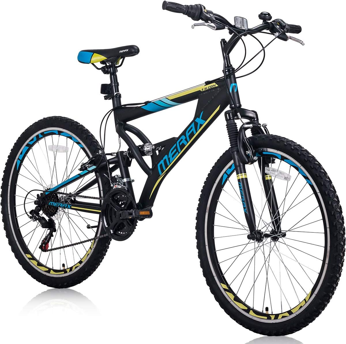 Merax Mountain Bike, Front Suspension, 24-Speed, 26-inch Wheel with Disc Brake