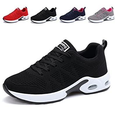a61d991d85 JARLIF Women s Breathable Fashion Walking Sneakers Lightweight Athletic  Tennis Running Shoes (5.5 B(M