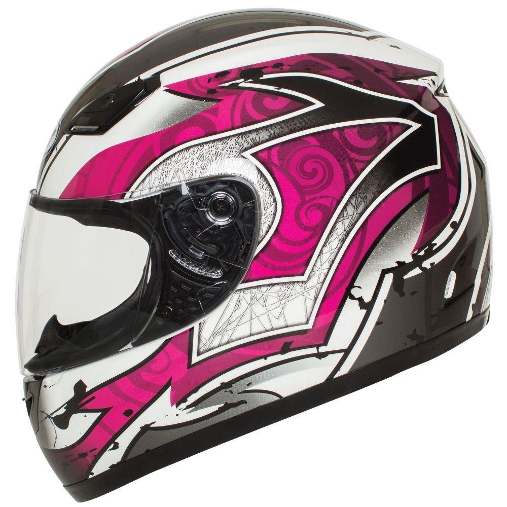 Amazoncom BILT Womens Legacy FullFace Motorcycle Helmet MD - Pink motorcycle helmet decals