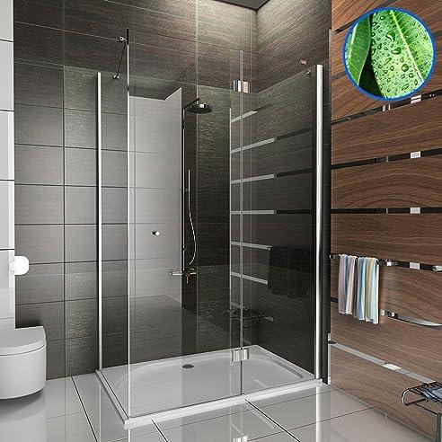 duschkabine 80x120 cm mit nanobeschichtung ffnung rechts und links seiteneinstieg aus esg nano glas und viereck - Dusche 80 X 120 Cm