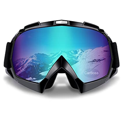7fd5acebdd4 Amazon.com  Carperipher Ski Goggles Snowboard Goggles Motorcycle Cycling Sports  Outdoor Goggles Anti-Glare UV400 Protection for Men Women Youth  Automotive