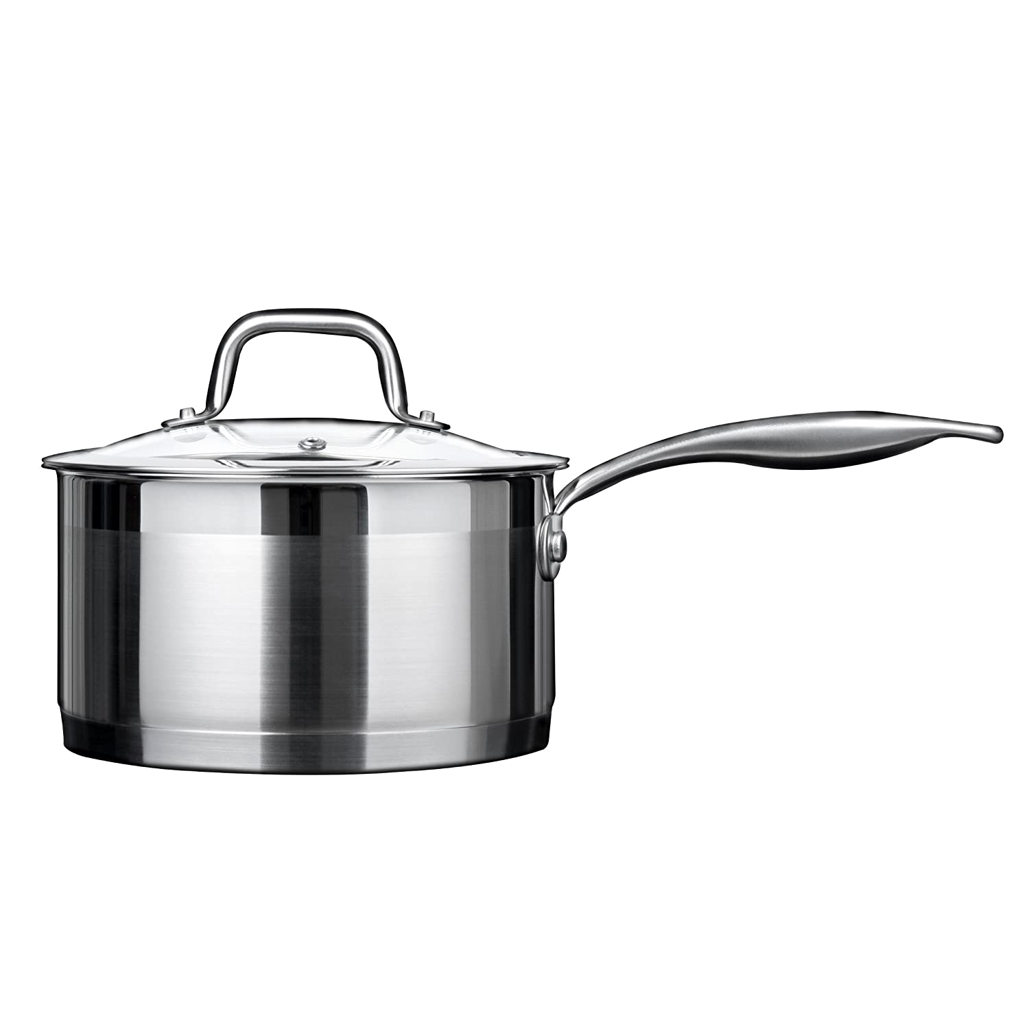 Duxtop Professional Stainless steel Cookware Induction Ready Impact-bonded Technology (2.5Qt Saucepan)