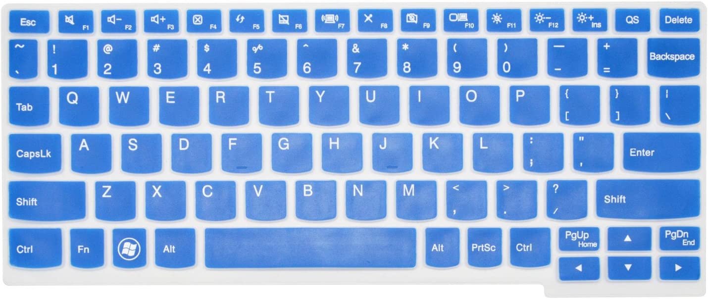 PcProfessional Blue Ultra Thin Silicone Gel Keyboard Cover for Lenovo Ideapad Yoga 11, Flex 10, Flex 3 11, yoga3 11, miix 700 12, Yoga 700 11 100s Laptop (Please Compare Layout and Model)
