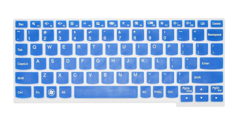 PcProfessional Blue Ultra Thin Silicone Gel Keyboard Cover for Lenovo Ideapad Yoga 11, flex 10, flex 3 11, yoga3 11, miix 700 12, yoga 700 11 100s ...