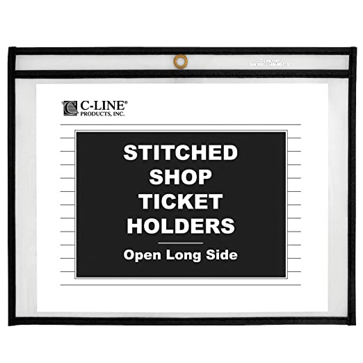 Amazon.com : C-Line Stitched Shop Ticket Holders, Both Sides Clear ...