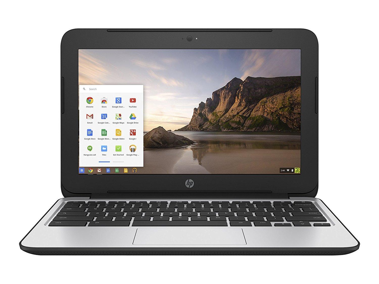 2017 HP Chromebook 11.6 inch Premium Flagship Laptop, Intel Celeron Core N2840 up to 2.58GHz, 4GB RAM, 16GB Flash SSD, 802.11ac WiFi, Bluetooth, Webcam, USB 3.0, Chrome OS (Certified Refurbished) by HP (Image #1)