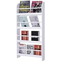 HOMCOM Estantería de Pared de Libros con 4 Estantes Librería Infantil para Hogar Oficina…