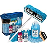 Waterless RV Aircraft Boat Wash Wax Mop Kit With Aluminum Pole, No Ladder Needed, Wash, Wax, Dry, Anywhere, Anytime, No Restrictions