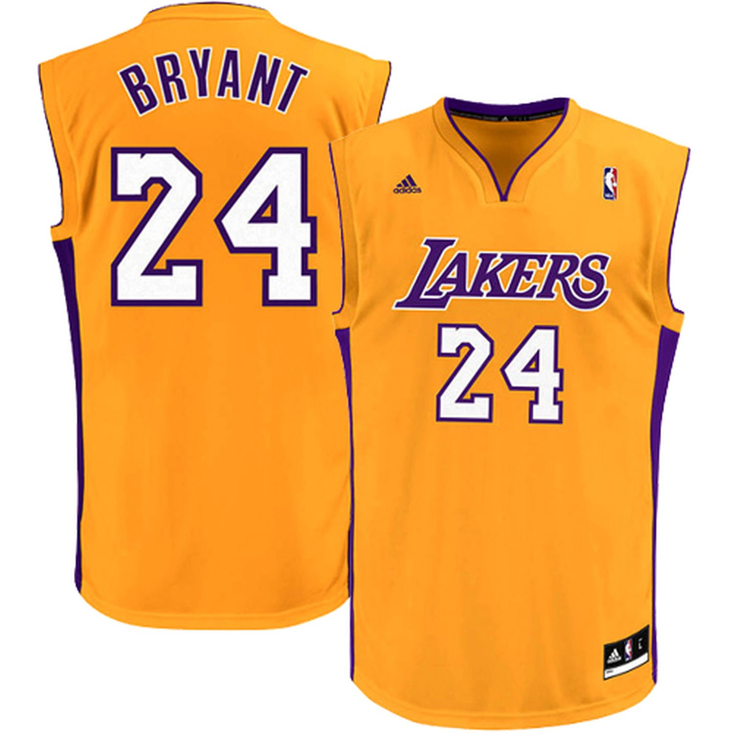 52e59633d Amazon.com  Kobe Bryant Los Angeles Lakers Yellow Kids Replica Jersey (Kids  5 6)  Clothing