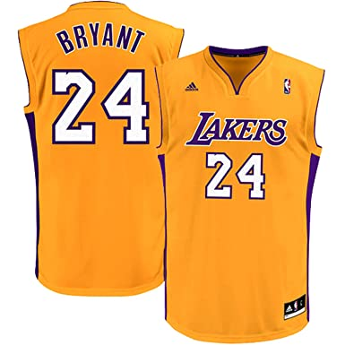 factory price e0422 e533f Outerstuff Kobe Bryant Los Angeles Lakers Yellow Kids Replica Jersey