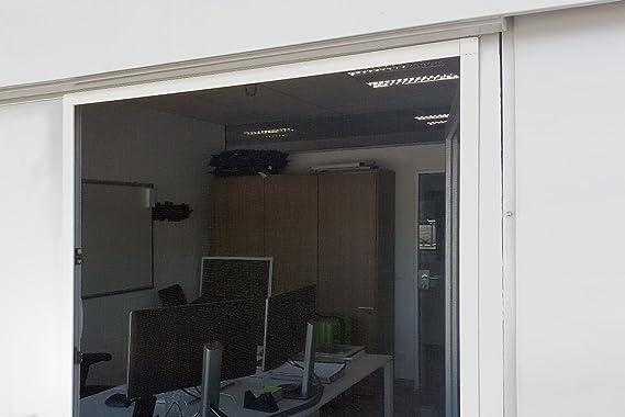 JAROLIFT Mosquitera con marco de aluminio - SlimLine para ventanas 100 x 150cm, color blanco - Montaje sin perforación: Amazon.es: Bricolaje y herramientas