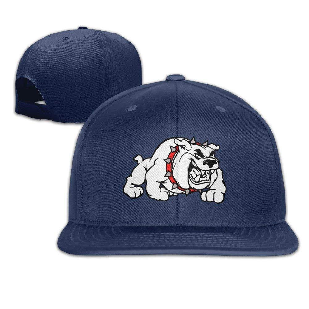 Amazon.com   GlyndaHoa Georgia Bulldogs Flat Bill Baseball Cap Hat Snapback  Adjustable One Size Unisex Natural   Sports   Outdoors 60b804fae23
