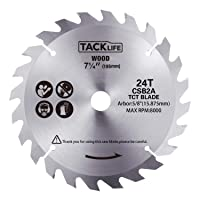 Deals on Tacklife 7-1/4-in 185mm 24 Teeth TCT Circular Saw Blade CSB2A