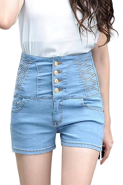 vívido y de gran estilo compra venta envio GRATIS a todo el mundo Pantalones Cortos De Mezclilla Cortos Para Mujer Pantalones ...