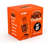 Nature Nate's 100% Pure Raw & Unfiltered Honey; Small Honey Packets in Bulk (10 mL/PKT); 20 Count Box; Enjoy Honey's Balanced Flavor, Just as Nature Intended; Fresh, Convenient and Easy to Carry Snack
