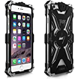 Alienwork Schutzhülle für iPhone 6 Stoßfest Hülle Case Bumper modisch Aluminium schwarz AP648-01