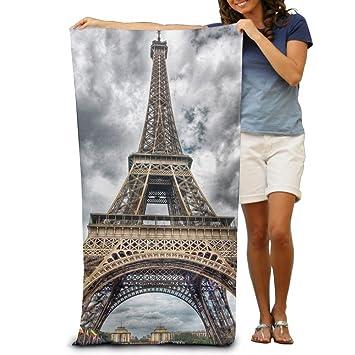 """Torre Eiffel de París toallas de baño de playa Baño Cuerpo Ducha Toalla, 31.5 """""""