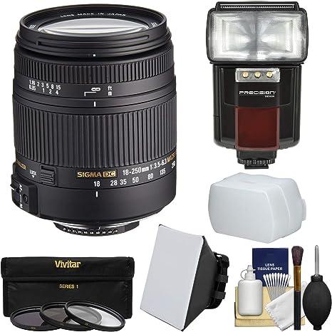 Sigma 18 – 250 mm f/3.5 – 6.3 DC Macro OS HSM Zoom lente con caja ...