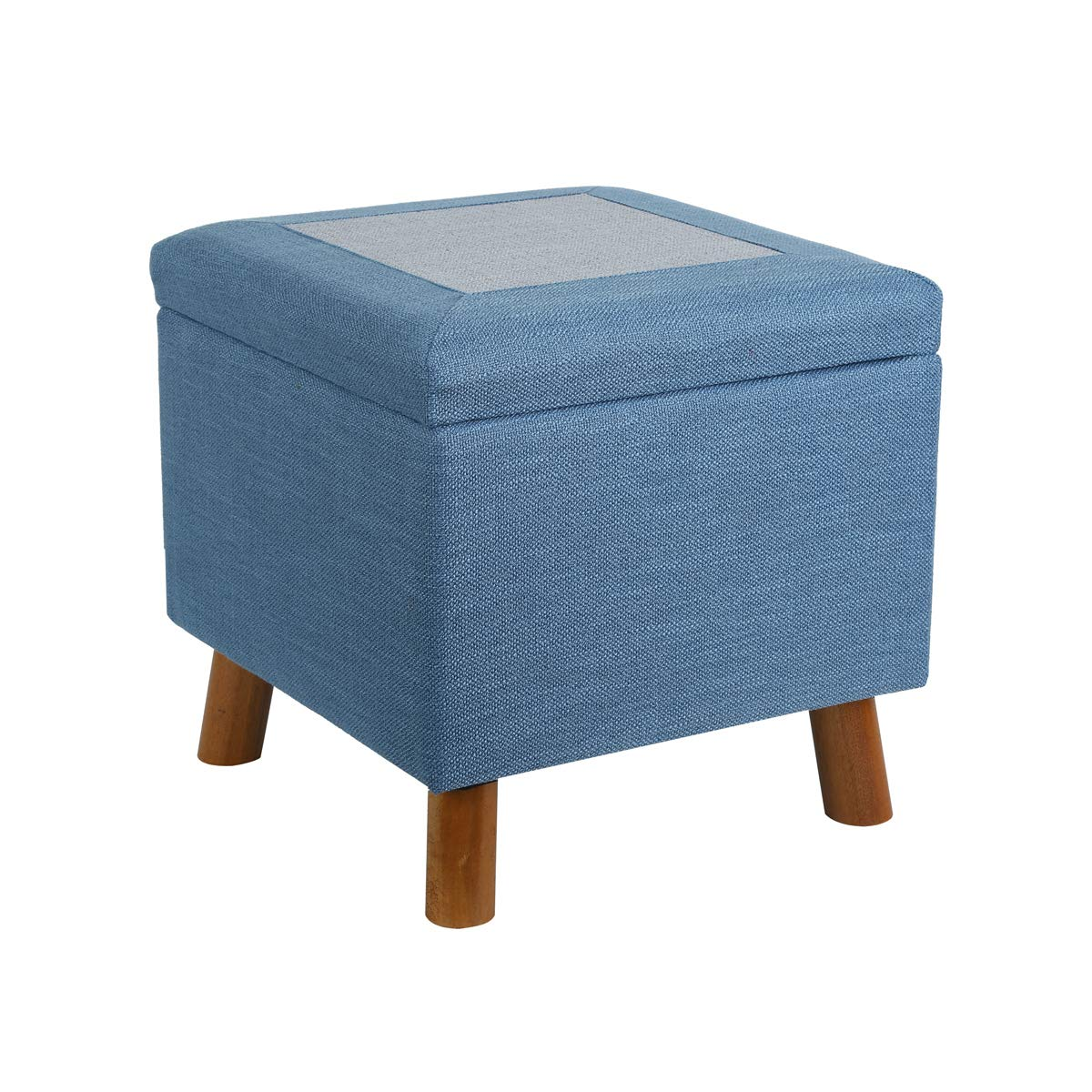 Beau Amazon.com: Eshow Ottoman With Storage Ottoman Cube Storage Foot Stools  Square Ottoman Pouf With Thickened Solid Wood Frame: Kitchen U0026 Dining