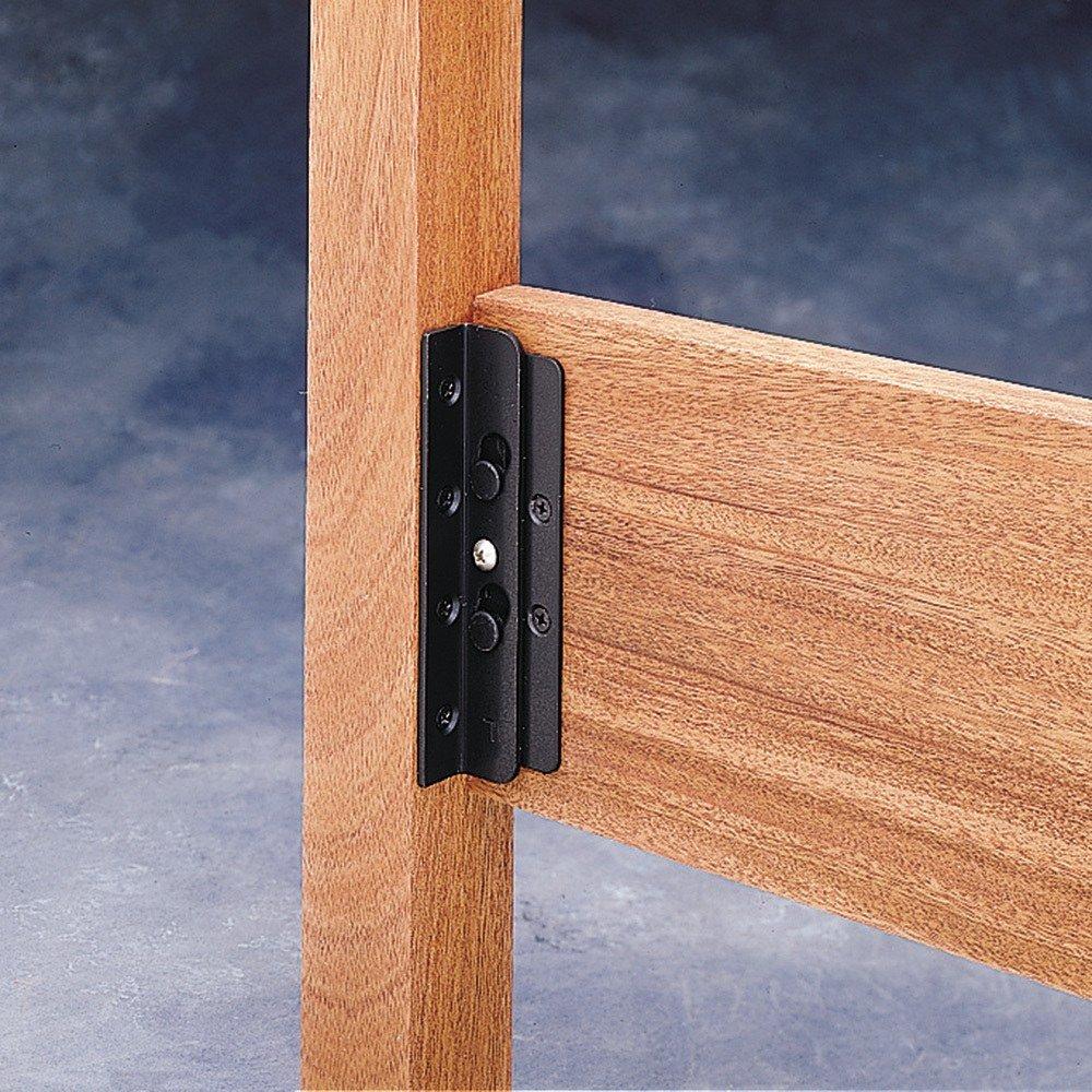 Amazoncom Surface Mounted Keyhole Bed Rail Brackets Home