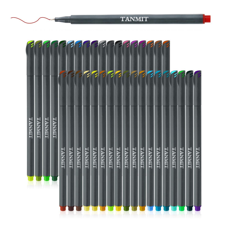 Fineliner Bullet Journal Pens Set, Fine Tip Drawing Pens Porous Fine Point Makers for Adult Coloring Books Writing Noting Calendar Marking Art Project (36 Color Pens Set) Tat-0036