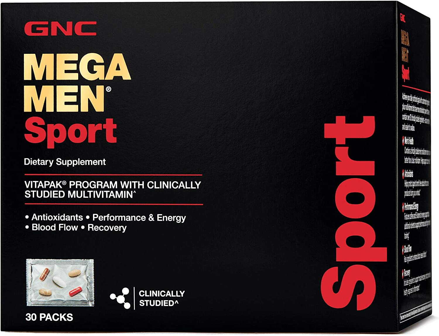 GNC Mega Men Sport Vitapak 30 Day New Formula