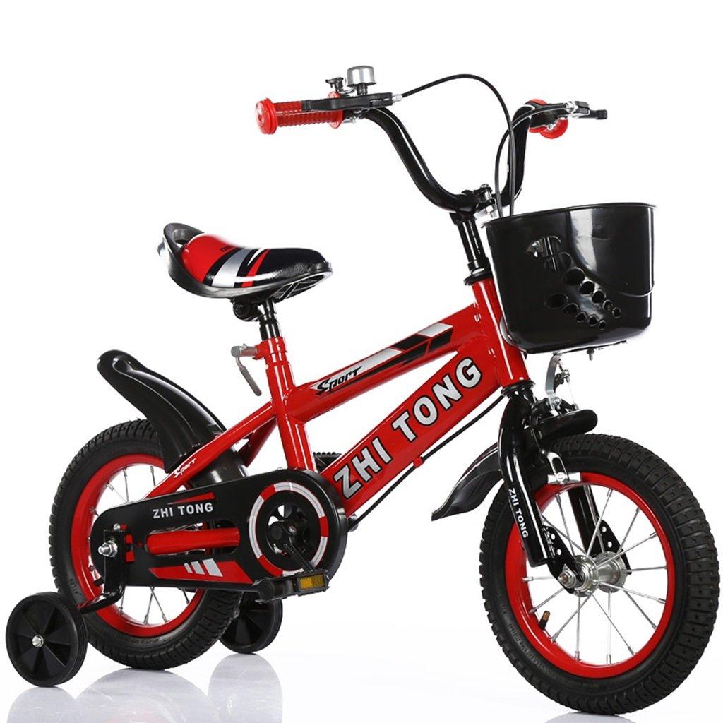 子供の自転車、男の子と女の子アシストホイールに適して高炭素鋼滑り止めタイヤ強力な安全性2-10歳88-121CM (色 : 赤, サイズ さいず : 100CM) B07D5YC8SM 100CM|赤 赤 100CM