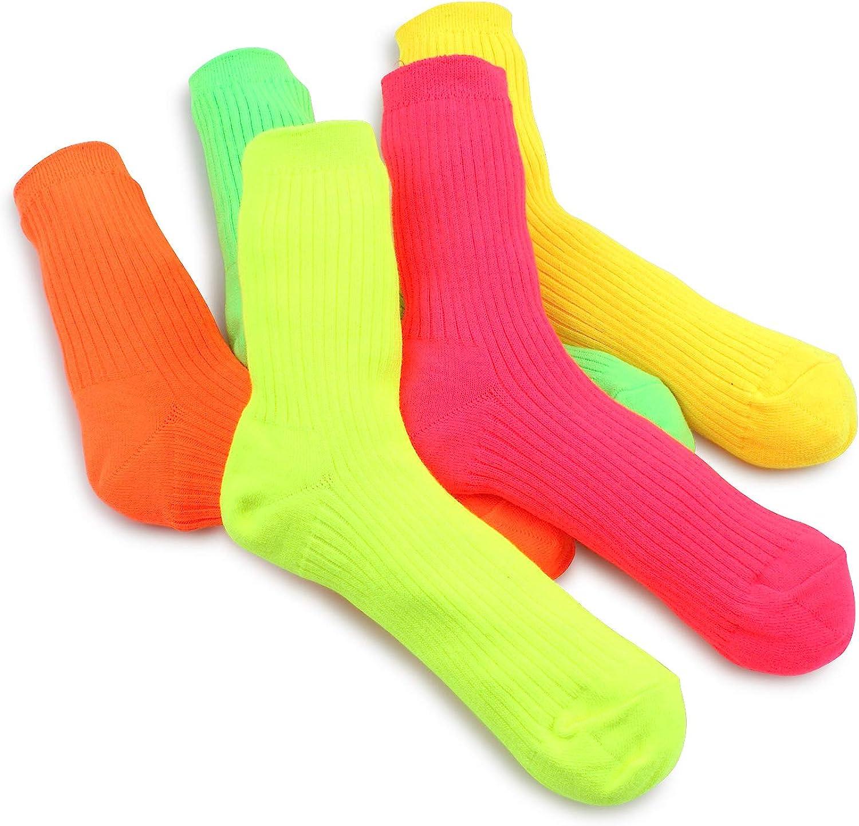 Vintage Style Socks- Knee High, Bobby, Anklet Street style Neon cotton socks women Hip fashion $14.90 AT vintagedancer.com