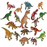 Realist Looking Dinosaur Toys Set of 19 Jurassic Dinosaur Educational Realistic Dinosaur Figures