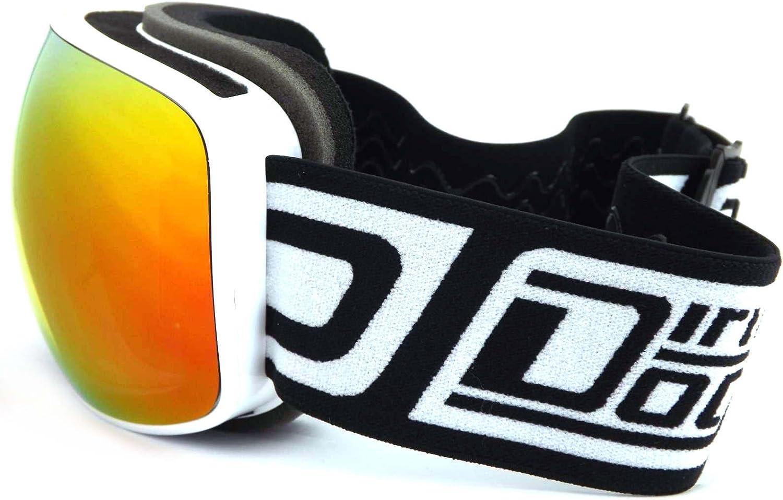 Dirty Dog 54172 White Mutant Visor Goggles Lens Category 2 Lens Mirrored Size 112mm