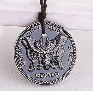 Diablo III Logo Collar Pandant Llavero-Negro: Amazon.es ...