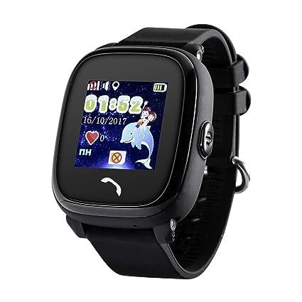 JBC GPS-Telefon Uhr - Modell 2019 - Kleiner Pirat - Wasserdicht OHNE Abhörfunktion, für Kinder, SOS Notruf+Telefonfunktion, L