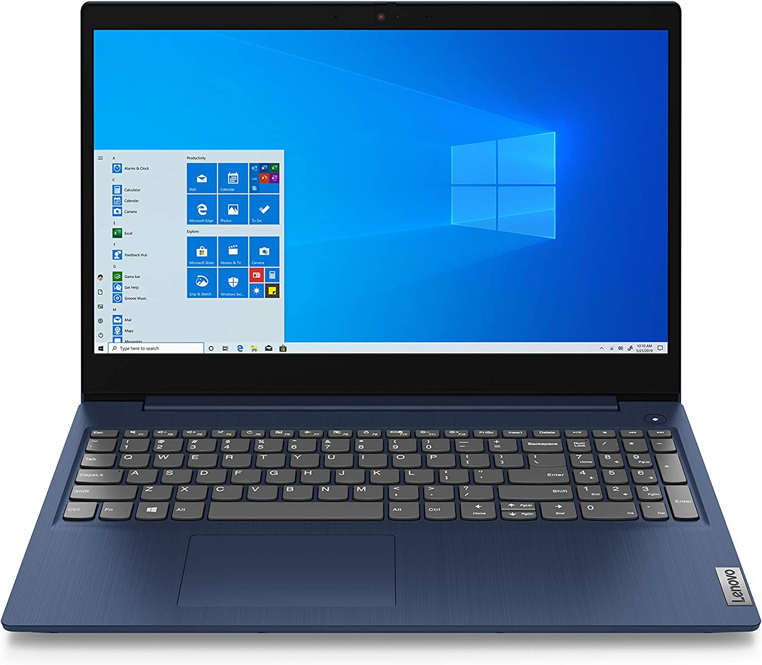 "2020 Lenovo IdeaPad 3 15.6"" Full HD Laptop, AMD Ryzen 5 3500U Quad-Core Processor, 8GB Memory, 256GB SSD, Vega 8 Graphics, Webcam, WiFi, Windows 10, Abyss Blue, Google Classroom Compatible"