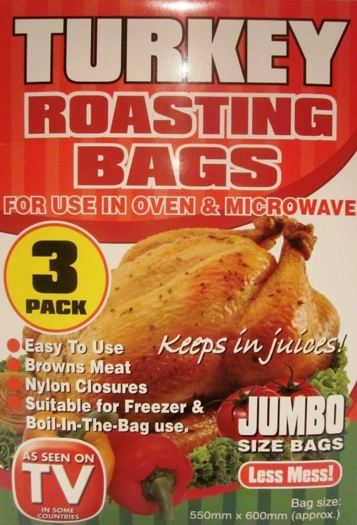 3 x Jumbo Turkey Roasting Bag by Lizzy® PMS