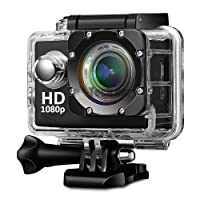 Teconica KL-5000 Full HD Action Camera with 170° Ultra Wide-Angle Lens & Full Accessories (Assorted Color)