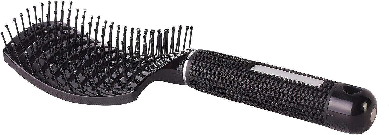 Cepillo curvado de barbero con aberturas, cepillo para secado con secador de salón, antiestático