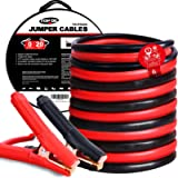 TOPDC Jumper Cables 0 Gauge 20 Feet Heavy Duty Booster Cables with Carry Bag (0AWG x 20Ft)