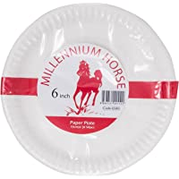 """Horse Paper Plate, 6"""", White"""