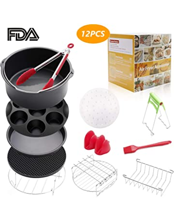 8 inch Air Fryer Accessories 12 Pcs for Gowise Phillips Cozyna Airfryer XL 4.2QT-
