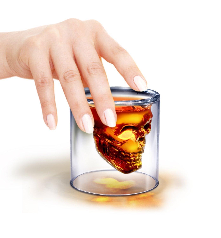 Skull Spirit Crystal alcohol Glass 74ml Pack of 4 by TARGARIAN