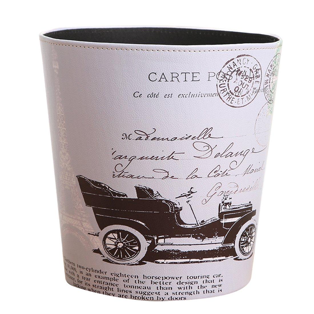 LoKauf 4.5L Vintage Waste Paper Bin Waste Paper Basket Household Trash Bin Wastebasket 19 * 19 * 19cm