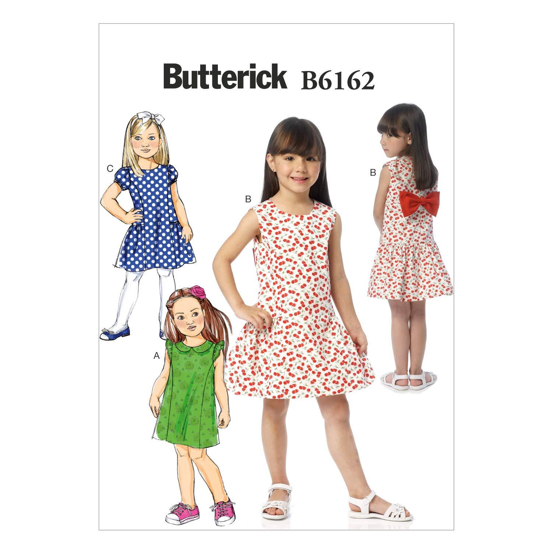 Butterick Patterns 6162 CDD - Patrón de Costura de Vestido para niña ...