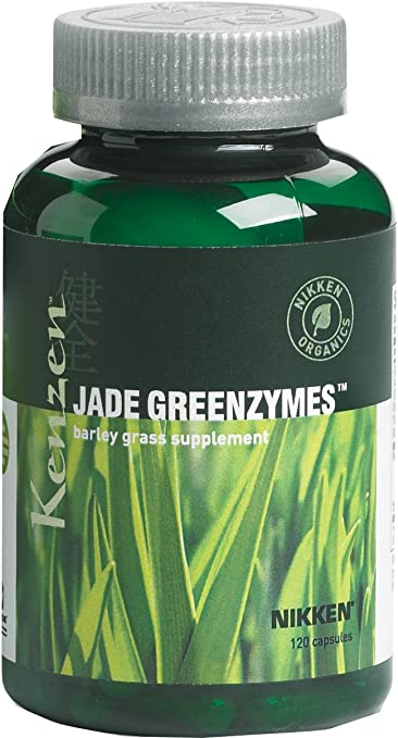 Nikken Kenzen Jade GreenZymes Barley Grass - Supplement for Strong Immune System, Maintain Blood Glucose