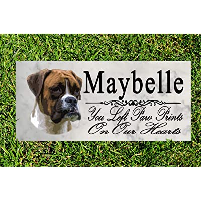 Broad Bay Boxer Dog Memorial Stone Personalized Boxer Sign Garden Marker Outdoor Grave Headstone Plaque: Kitchen & Dining