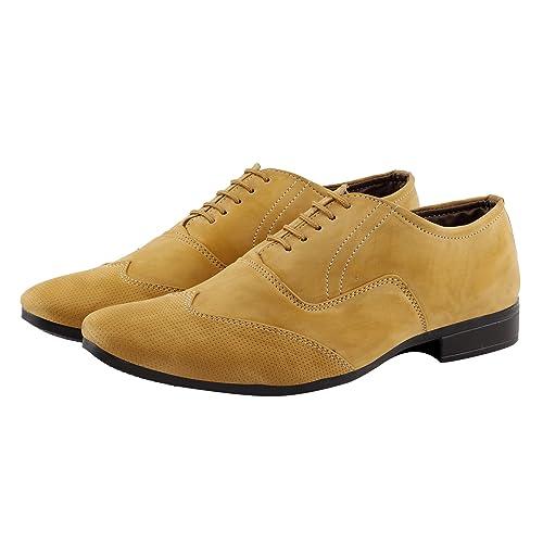Tan Colour Formal Patent Leather Shoes