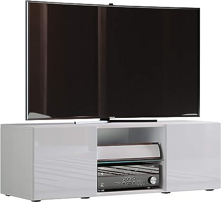 VCM lowina Pulido Fino 115 – Mueble TV, Madera, Blanco, 40 x 115 x 36 cm: Amazon.es: Hogar