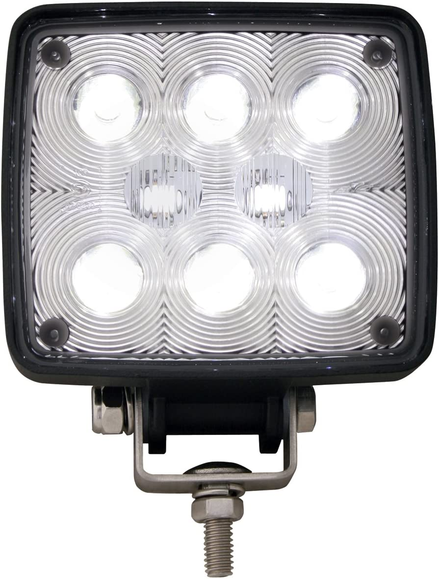 Grand General 76351 4.38 Rectangular High Intensity 8-LED Work Light with Dual 12 24 Voltage