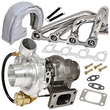 Volve 240 740 940 2.3L N/A Motor colector acero inoxidable + T3/T4